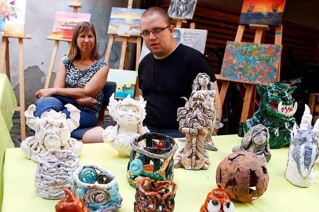 Ein Kunstmarkt der besonderen Art von Menschen mit psychischen Erkrankungen