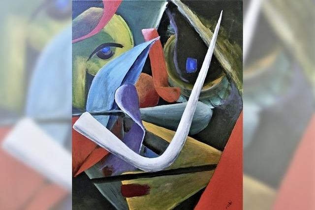 Kunst im Café: Regionaler Künstler Rudi Bienroth zeigt Malereien