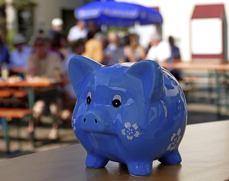 Auch das Spendenschwein der Badischen ...ieder für den guten Zweck dabei sein.   | Foto: David Rutschmann