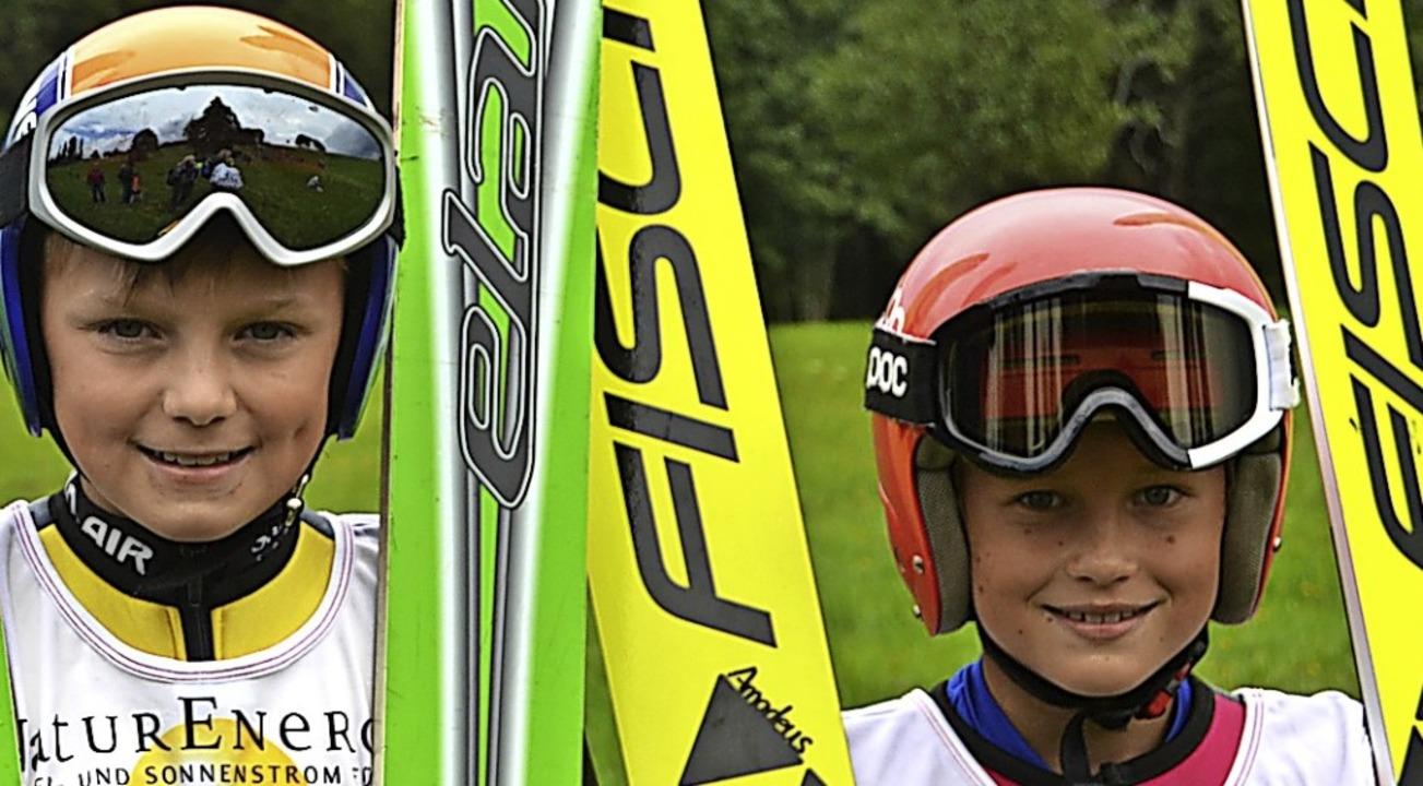 Skisprungtalente: Amadeus Horngacher (...nd Timo Tritschler vom SC Hinterzarten  | Foto: Helmut Junkel
