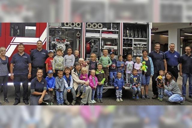 Zu Gast bei den Feuerwehrleuten
