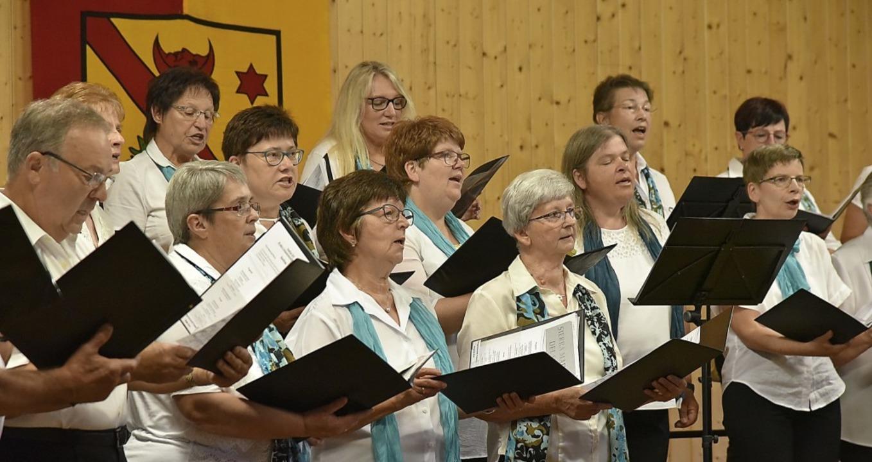 Präsentierten sich im Sängerheim in guter Form: die Chorvereinigung Freiamt.  | Foto: Benedikt Sommer