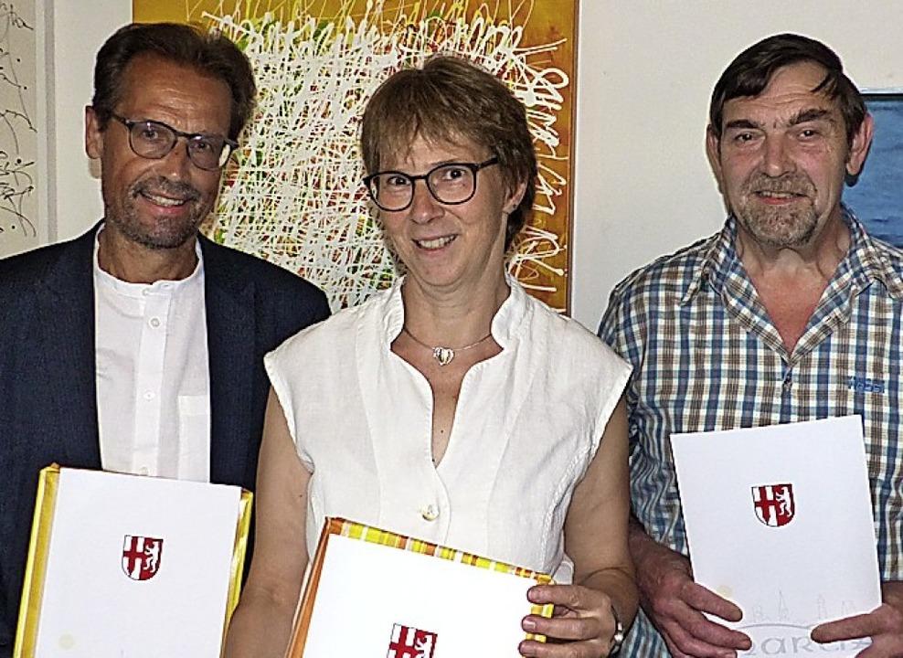Ausgeschieden: Karl-Heinz Faller, Dagmar Braun und Jürgen Selb (von links)   | Foto: Claudia Bachmann-Goronzy