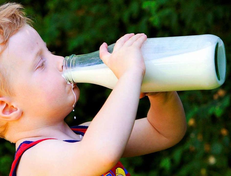 Ihm schmeckts aus der Flasche.  | Foto: A3472 Frank May