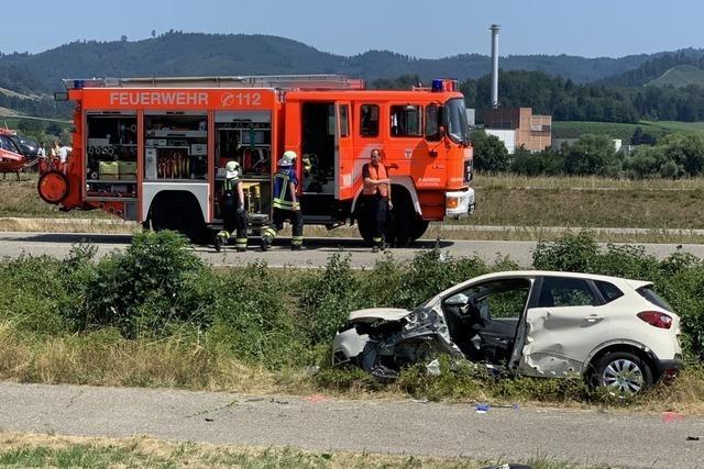 Zwei Verletzte nach Frontalzusammenstoß bei Gengenbach