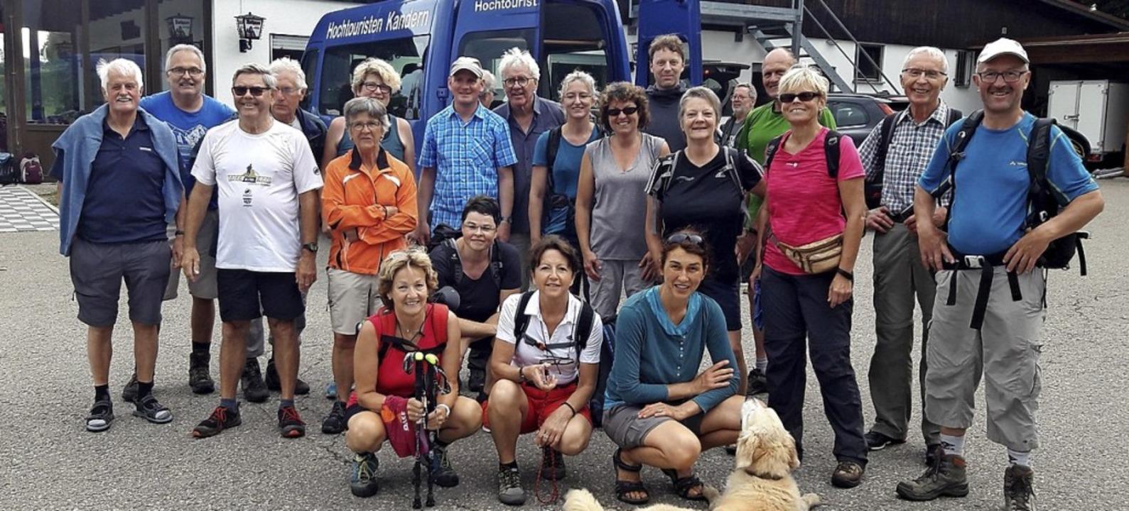 <BZ-FotoAnlauf>Hochtouristen:</BZ-Foto... die Teilnehmer am Hotzenwaldhaus an.   | Foto: Hochtouristen Kandern