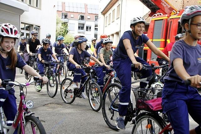 Fahrradkorso der Jugendfeuerwehr