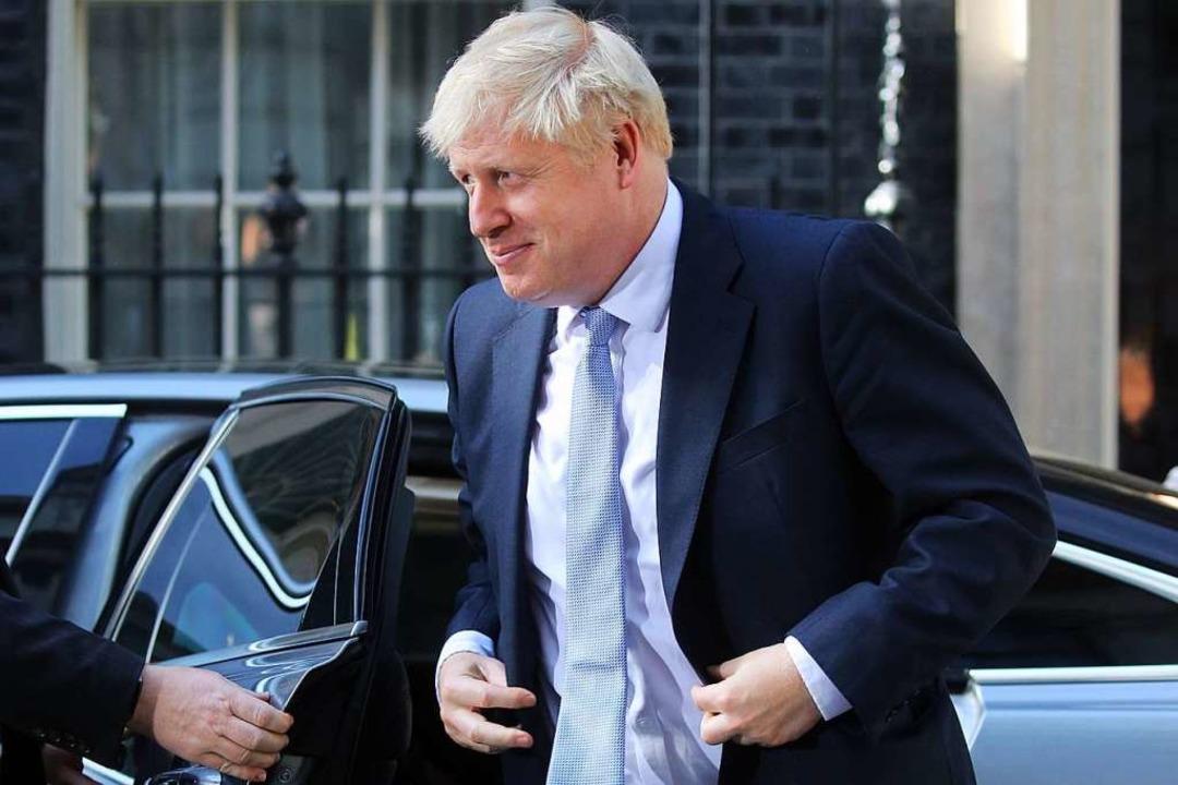 Boris Johnson am Mittwoch auf dem Weg zur Downing Street, No. 10   | Foto: ISABEL INFANTES (AFP)