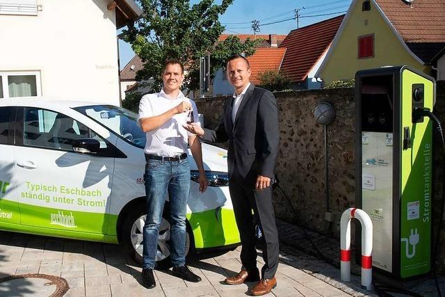 Gemeinde Eschbach hat nun ein E-Auto, das jeder mieten kann
