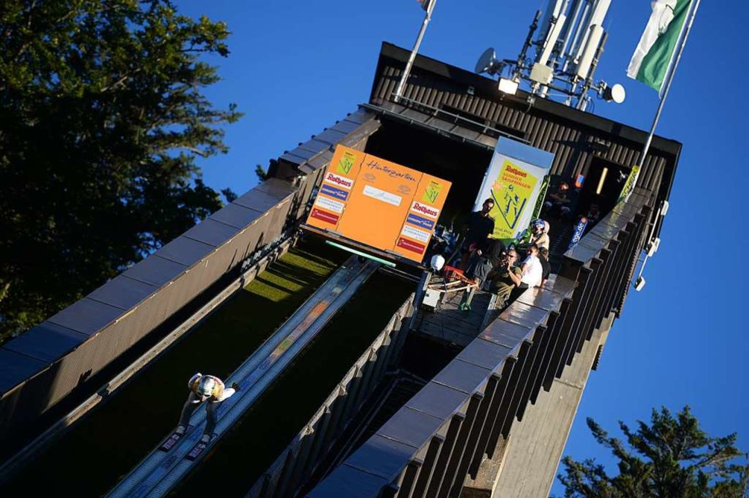 Schanze frei in Hinterzarten – ein letztes Mal vor der Modernisierung.  | Foto: Patrick Seeger