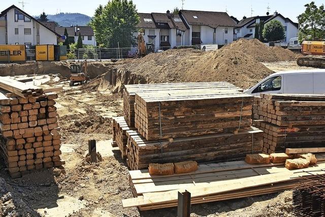 Bauarbeiten an der Alten Bundesstraße