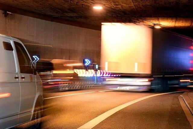 Tunnel der B31 im Osten Freiburgs sind vier Nächte lang voll gesperrt