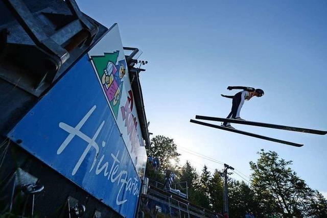In Hinterzarten findet am Wochenende das Sommerskispringen statt
