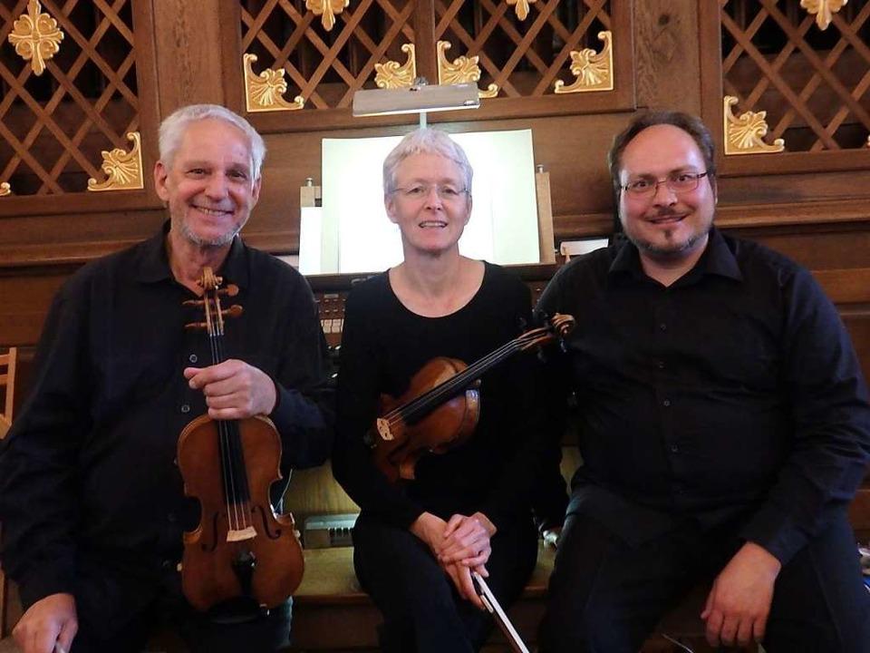 Das Rheinberger-Trio interpretiert Wer...ötzingen und am Sonntag in Merzhausen.  | Foto: Bianca Flier