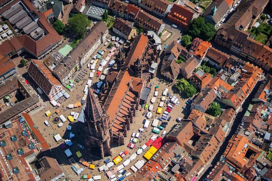 Wie sicher ist Freiburgs Altstadt? Um ... bei der neunten Sicherheitskonferenz.  | Foto: Nils Theurer