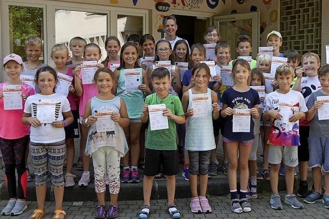 Wallbacher Grundschüler zeigen sich sportlich