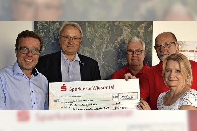 1000 Euro für Wildgehege