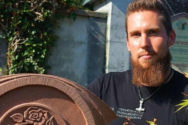 Der Bildhauer Thomas Raschendorfer will etwas Bleibendes schaffen
