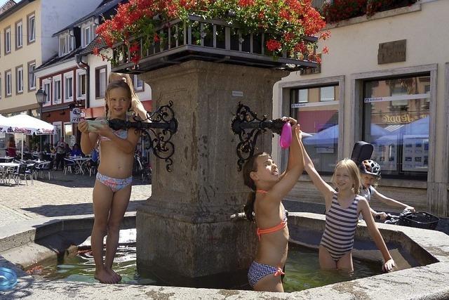 Brunnenbad als feine Erfrischung