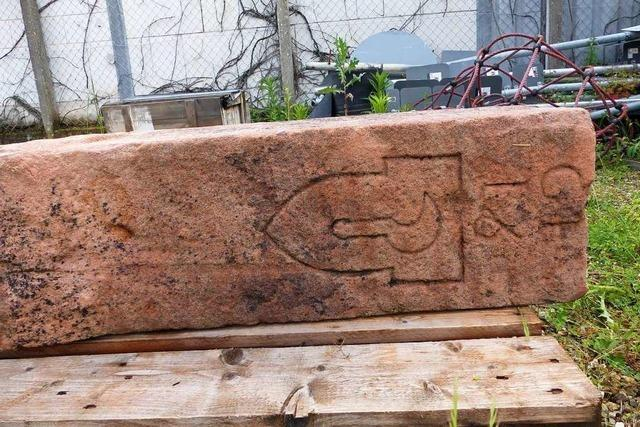 Einer der ältesten Grenzsteine in Friesenheim entdeckt