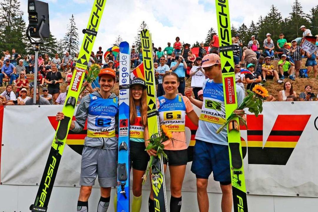 Das deutsche Team (von links): Richard...Seyfarth, Agnes Reisch und Karl Geiger  | Foto: Joachim Hahne