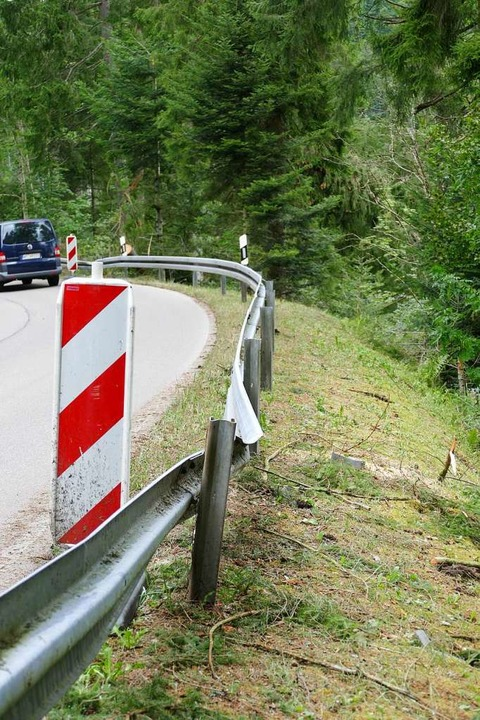 Auch die Leitplanken haben gelitten.  | Foto: Juliane Kühnemund