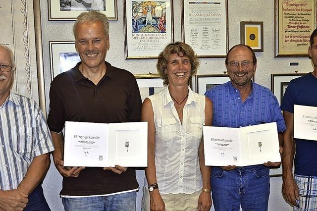 Drei Geehrte im neuen Ortschaftsrat von Wies