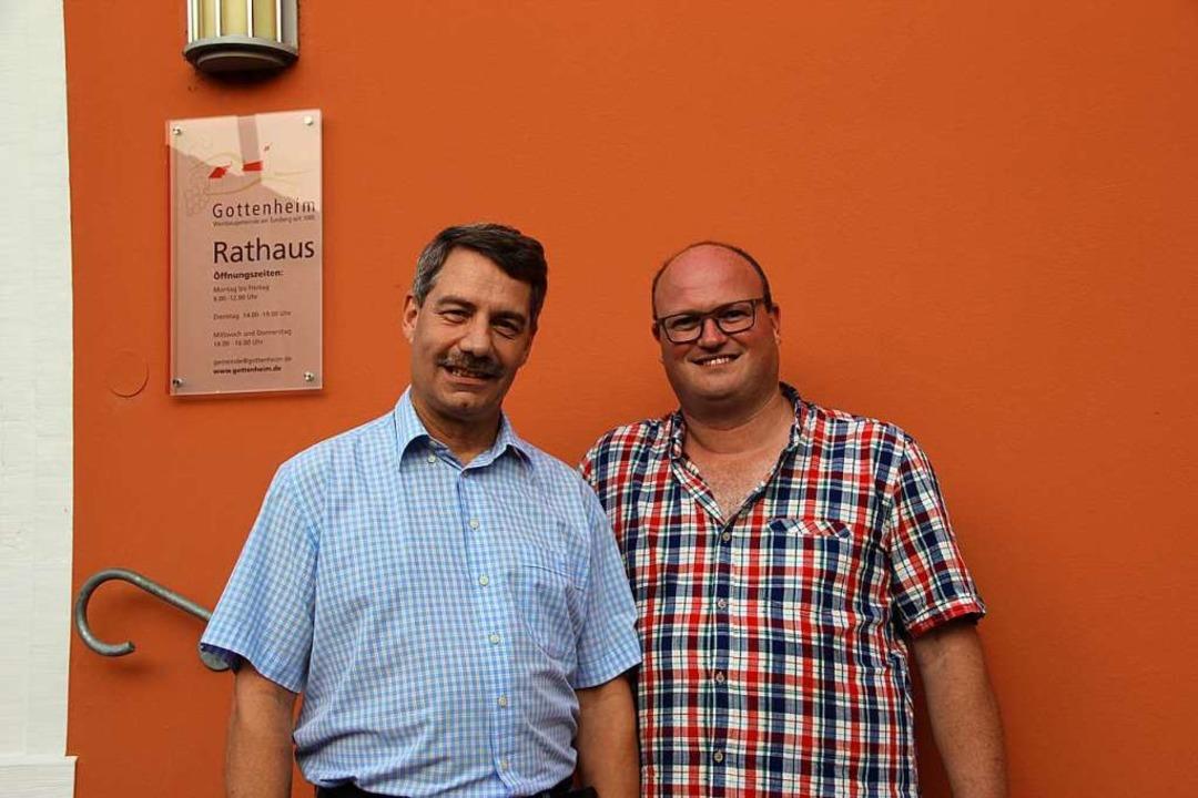 Die Bürgermeisterstellvertreter: Kurt ...bach (links) und neu Clemens Zeissler.  | Foto: Mario Schöneberg