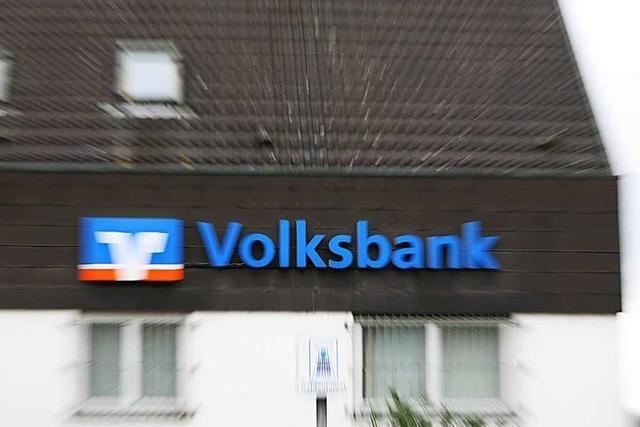 Die Volksbank-Filiale wird auf Selbstbedienung umgestellt