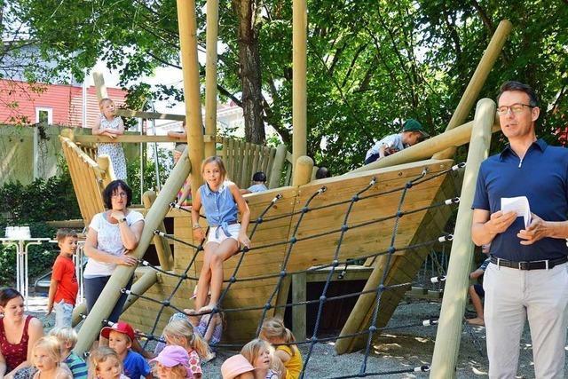 Der Aumatten-Spielplatz in Zarten ist eröffnet