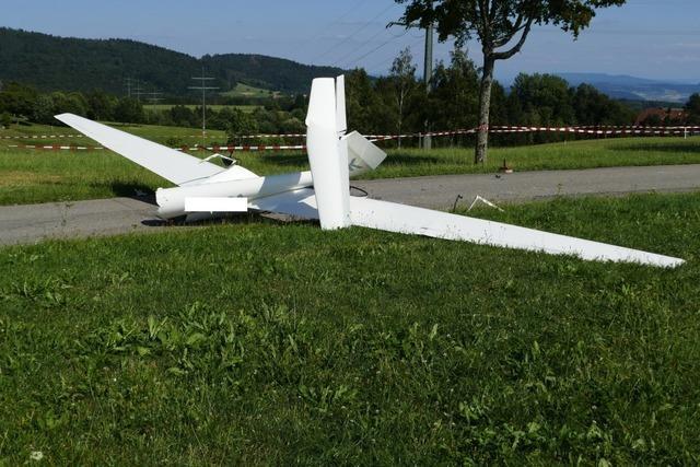 Pilot kommt bei Absturz von Segelflugzeug ums Leben