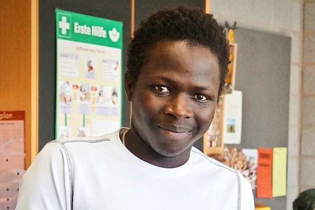 Baba Sawo ist motiviert, kämpft aber mit der Fachsprache