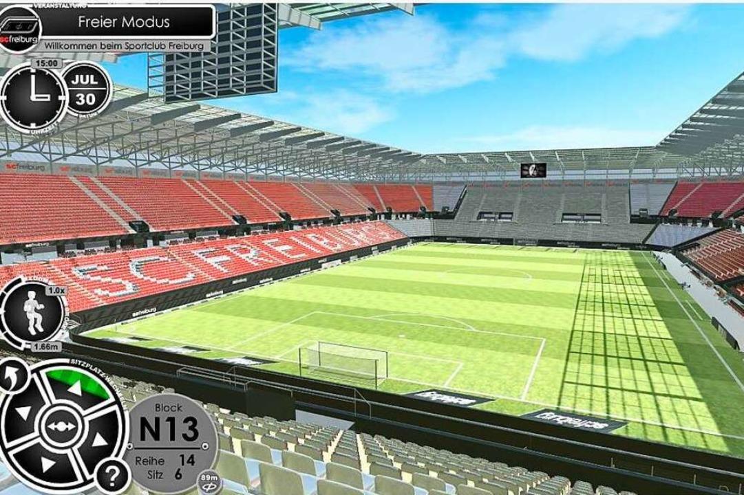 Fans können auf jedem Platz im Stadion...lick von der Nord- auf die Südtribüne.  | Foto: Screenshot