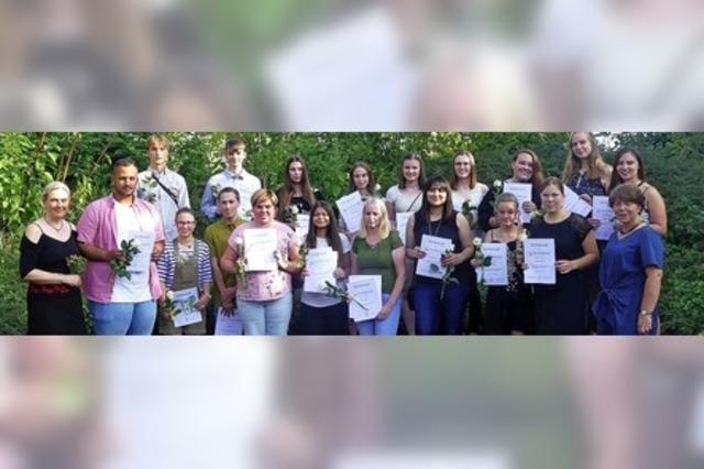 Abschluss an der Maria-Furtwängler-Schule