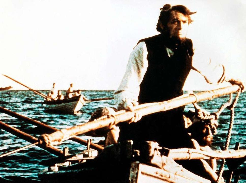 "Gregory Peck als Ahab im Spielfilm ""Moby Dick"" von 1956  | Foto: WDR"