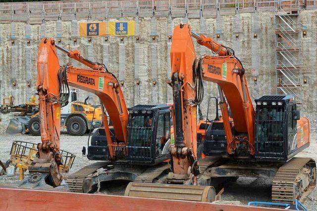 Baustelle Dreiländergalerie: Die Arbeit ruht schon wieder