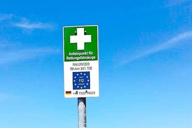 Auch an den Rheinufern im Ried gibt es jetzt Notfallpunkte