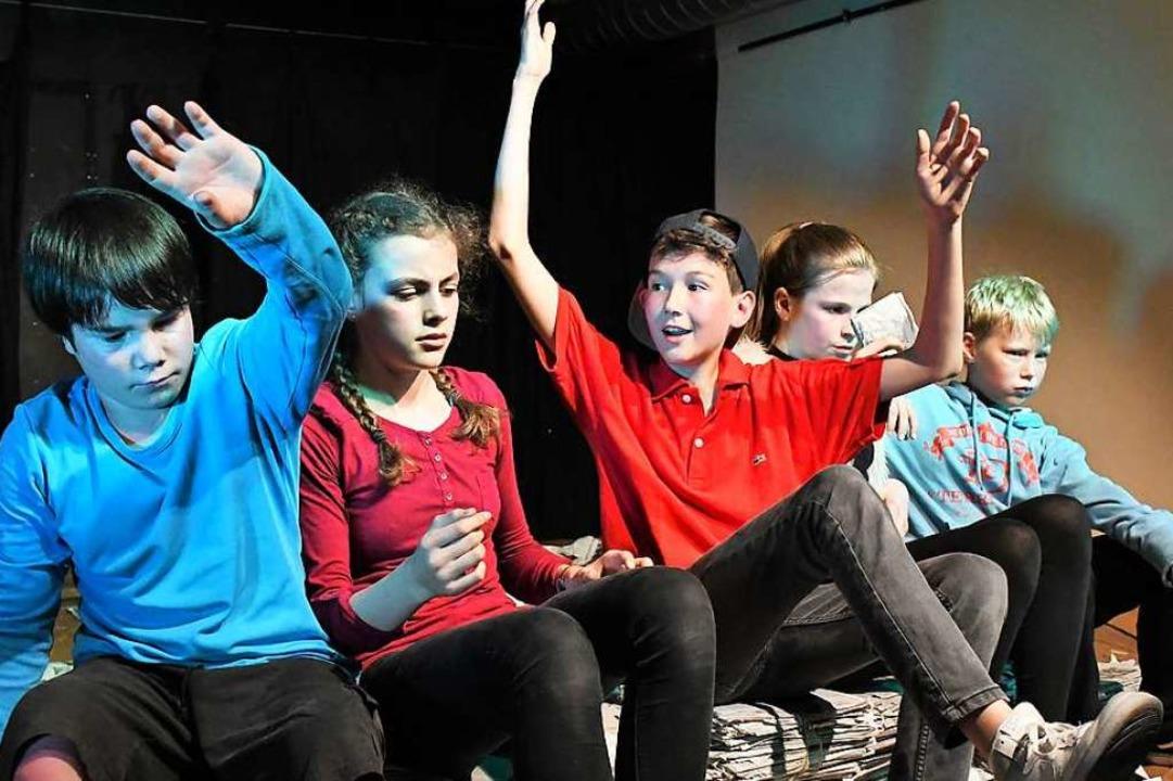 Beim Theaterworkshop in Bollschweil kö... Lörrach) zeigen, was in ihnen steckt.  | Foto: Barbara Ruda