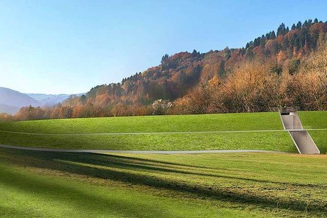 Bauarbeiten für Hochwasserdamm im Bohrertal bei Freiburg starten im Herbst