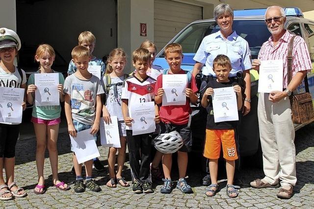 Ferienspaß bei der Polizei