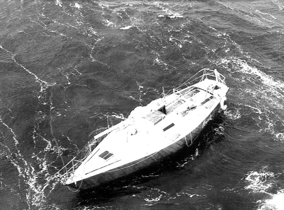 Das verlassen im Meer vor der irischen... der Jacht Ariadne am 14. August 1979.    Foto: UPI (dpa)