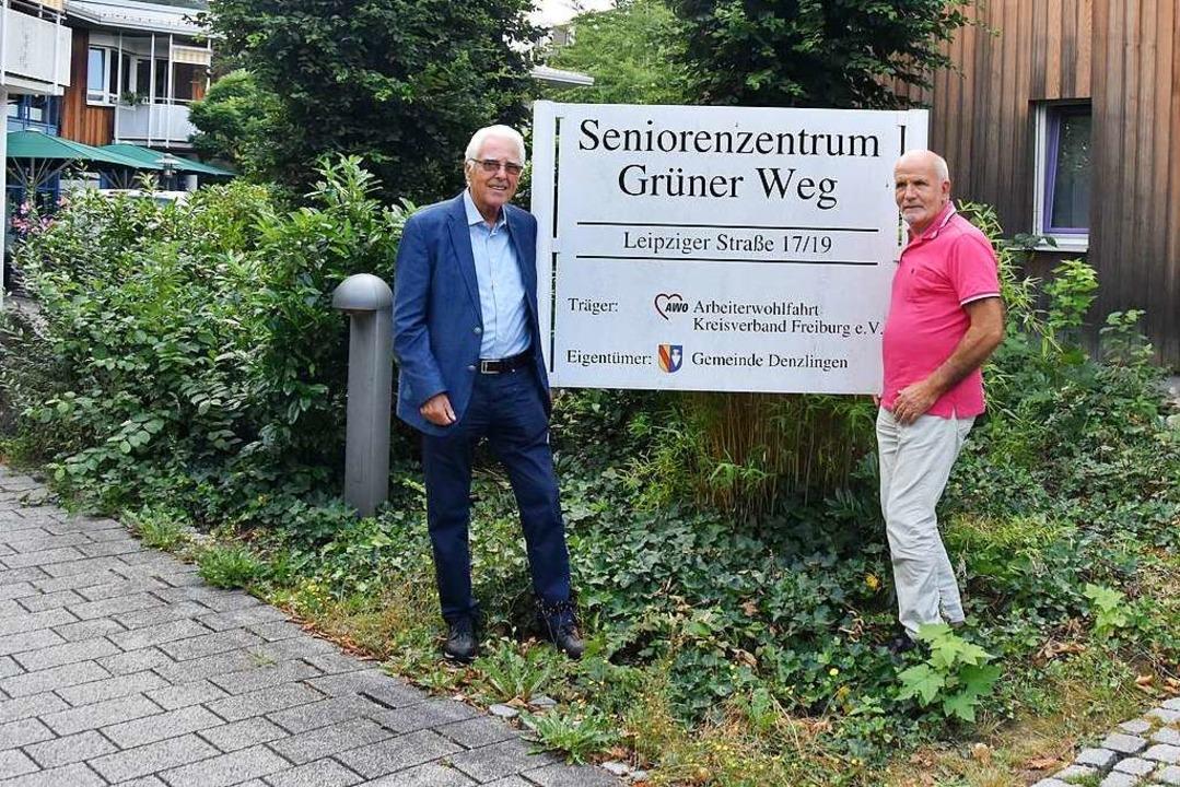 Hansjörg Seeh und Detlef Behnke schaue...ngenheit und mit Sorge in die Zukunft.  | Foto: Sebastian Krüger
