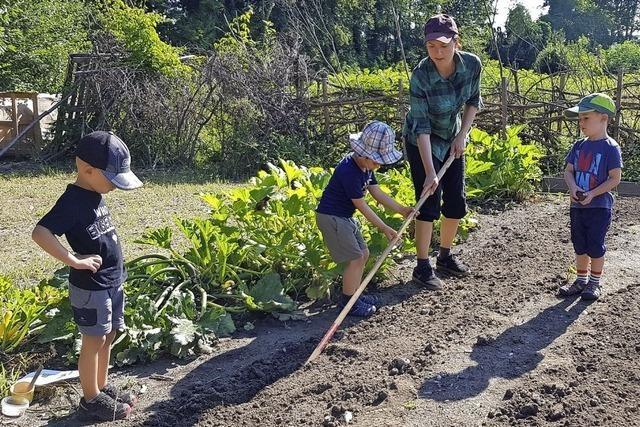 Kinder essen, was aus dem eigenen Garten kommt