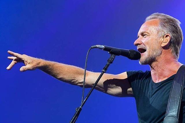 Sting versucht in Colmar, sein Werk frisch zu halten