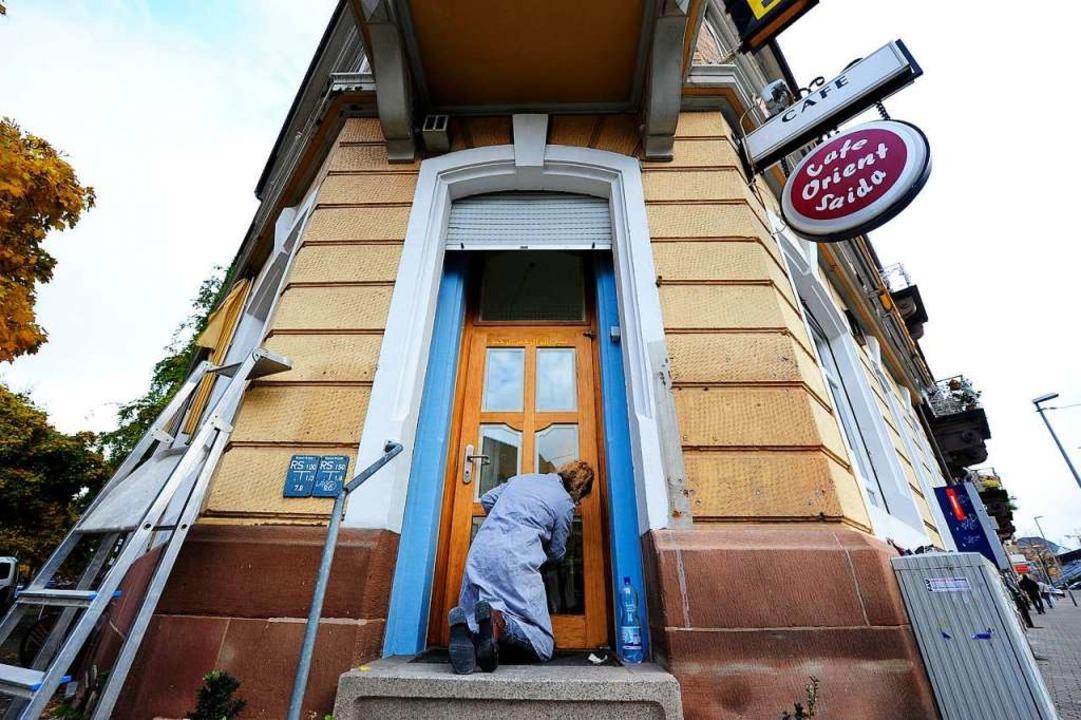 Hier wird noch renoviert: das künftige Café Satz.  | Foto: Repro: Ingo Schneider