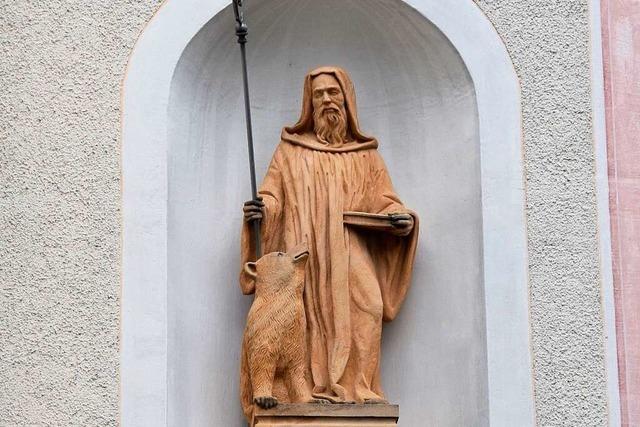 Vom Heiligen Gallus gibt es eine Reliquie in Merzhausen