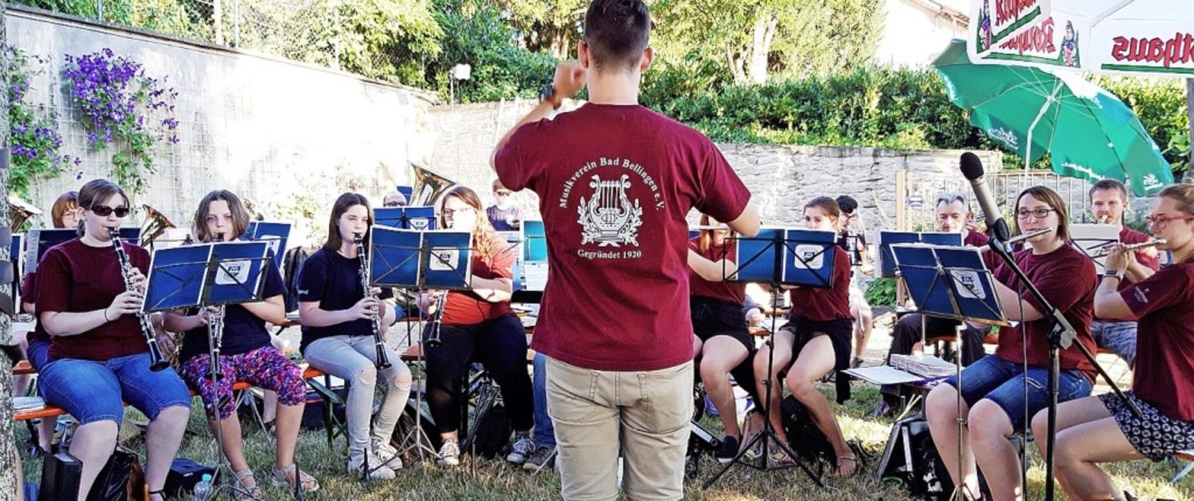 Der Musikverein Bad Bellingen spielte ...mmernachtskonzert im Schlosspark auf.   | Foto: Privat