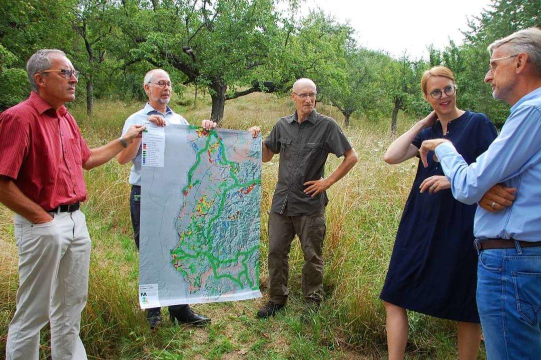 Armin Schuster (rechts) informierte si... (Stadt Lörrach, von links) einsetzen.  | Foto: Herbert Frey