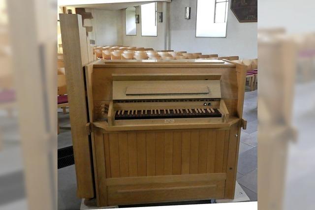 Eine Orgel in der Truhe