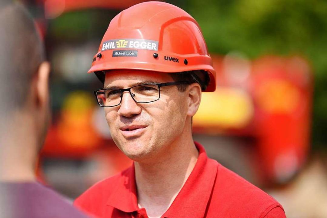 Michael Egger, Chef der Kranfirma    Foto: Jonas Hirt